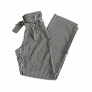Dynamite Black and White Vertical Stripe Pants